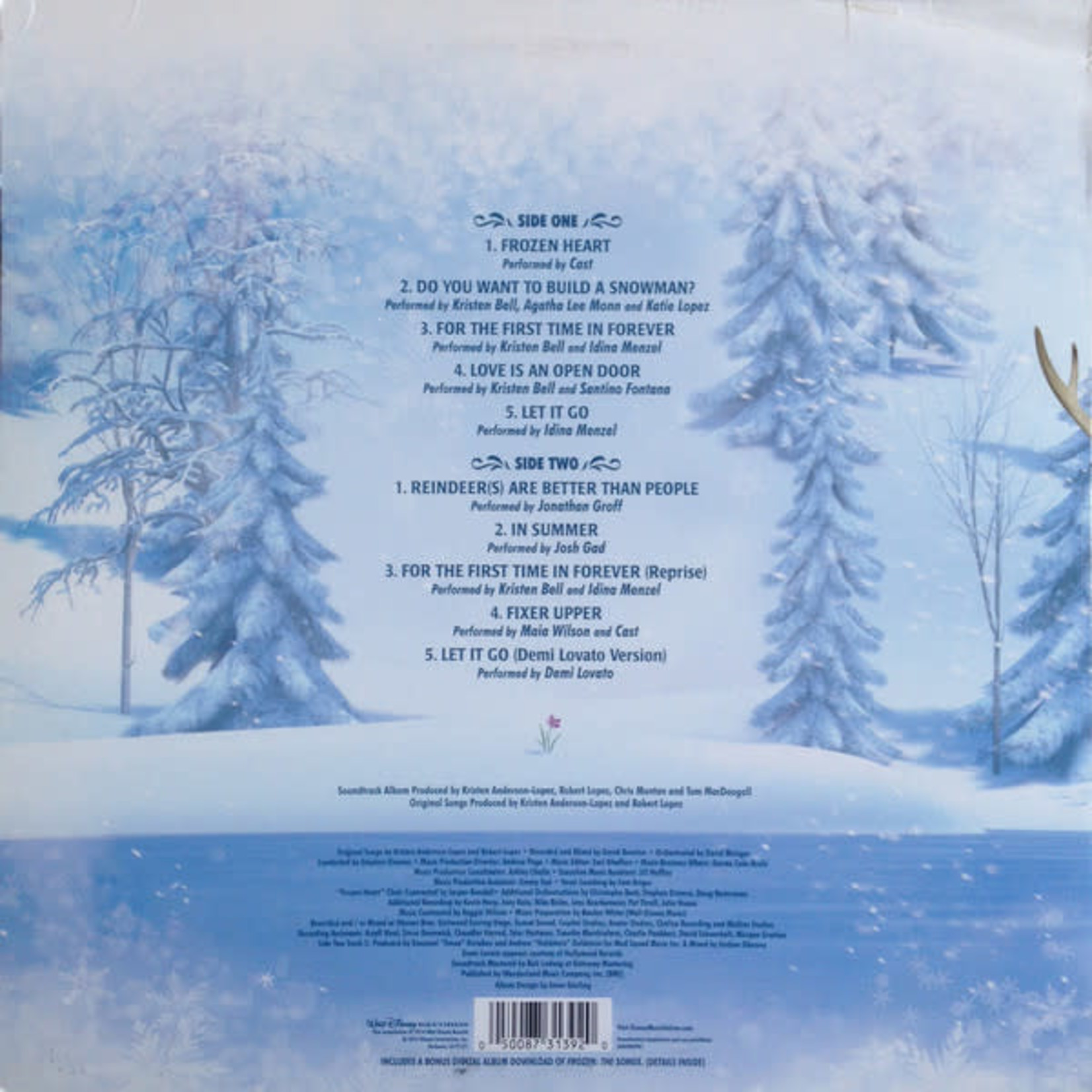 VARIOUS ARTISTS FROZEN: THE SONGS