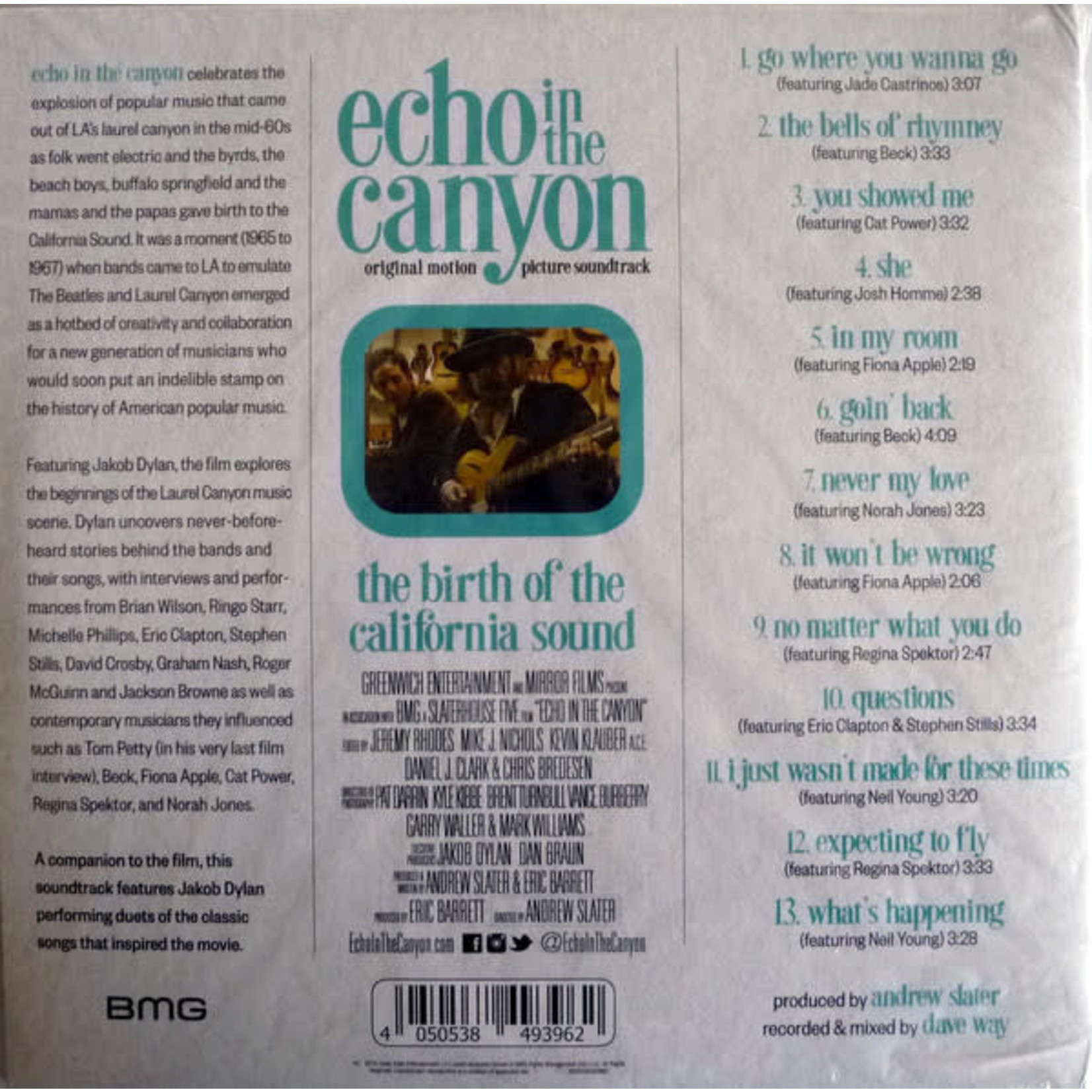 VARIOUS ARTISTS ECHO IN THE CANYON (ANDREW SLATER SCORE)