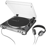 AUDIO-TECHNICA AT-LP60XHP-GM TURNTABLE & HEADPHONES  GUN METAL