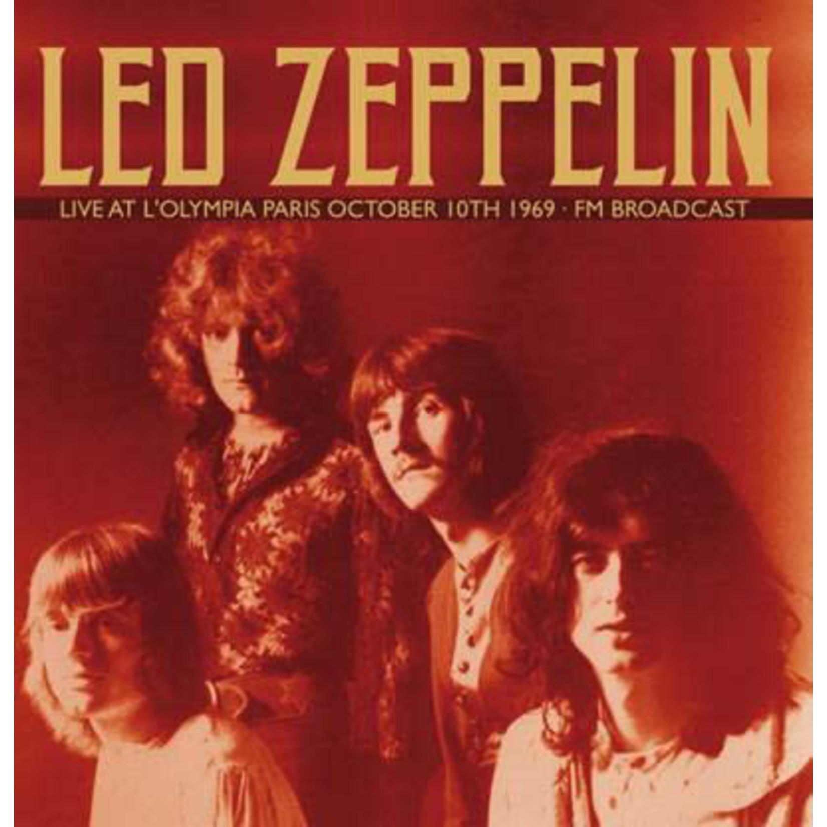 LED ZEPPELIN LIVE AT L'OLYMPIA PARIS OCTOBER 10TH 1969 (2LP) FM BROADCAST