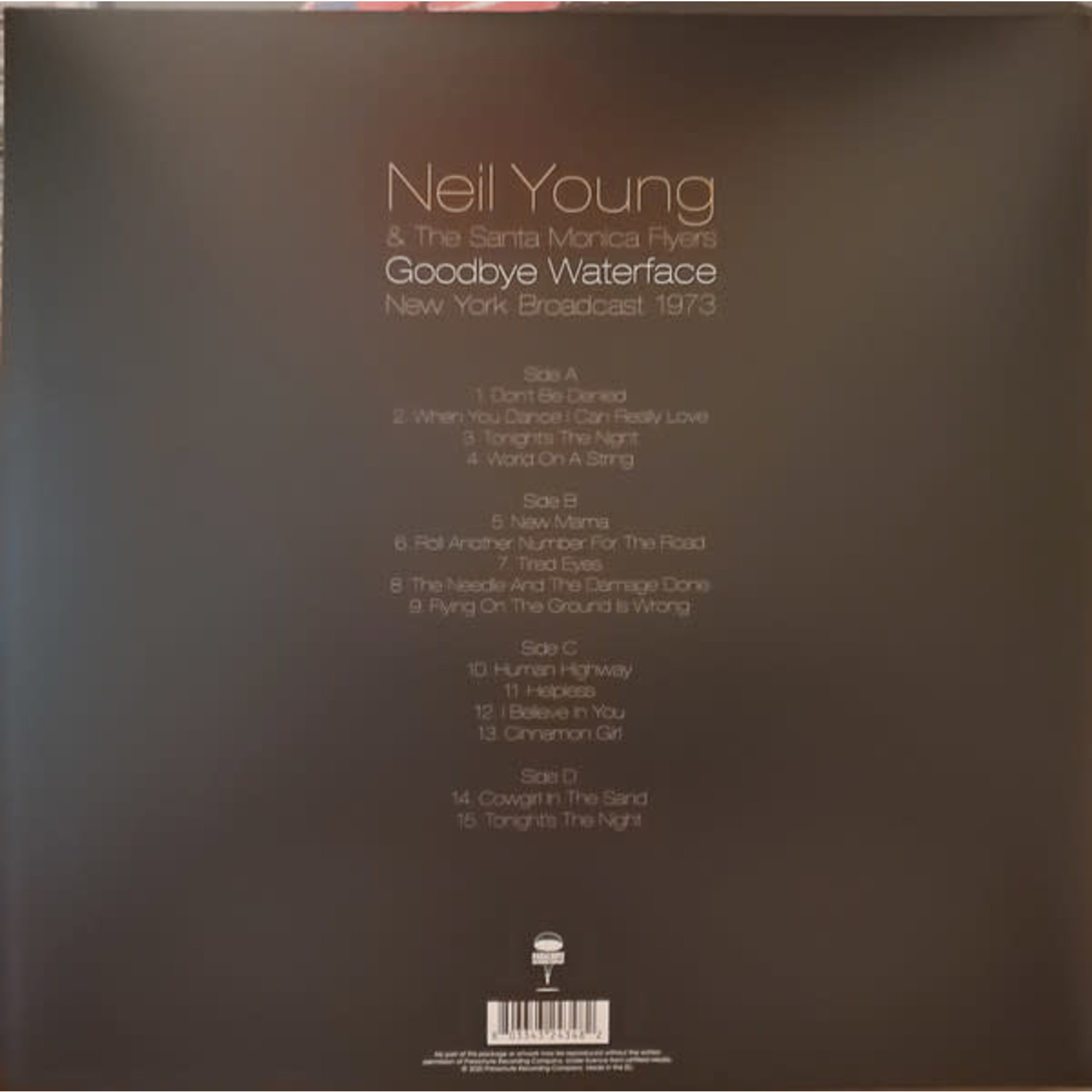 NEIL YOUNG GOODBYE WATERFACE (2LP)