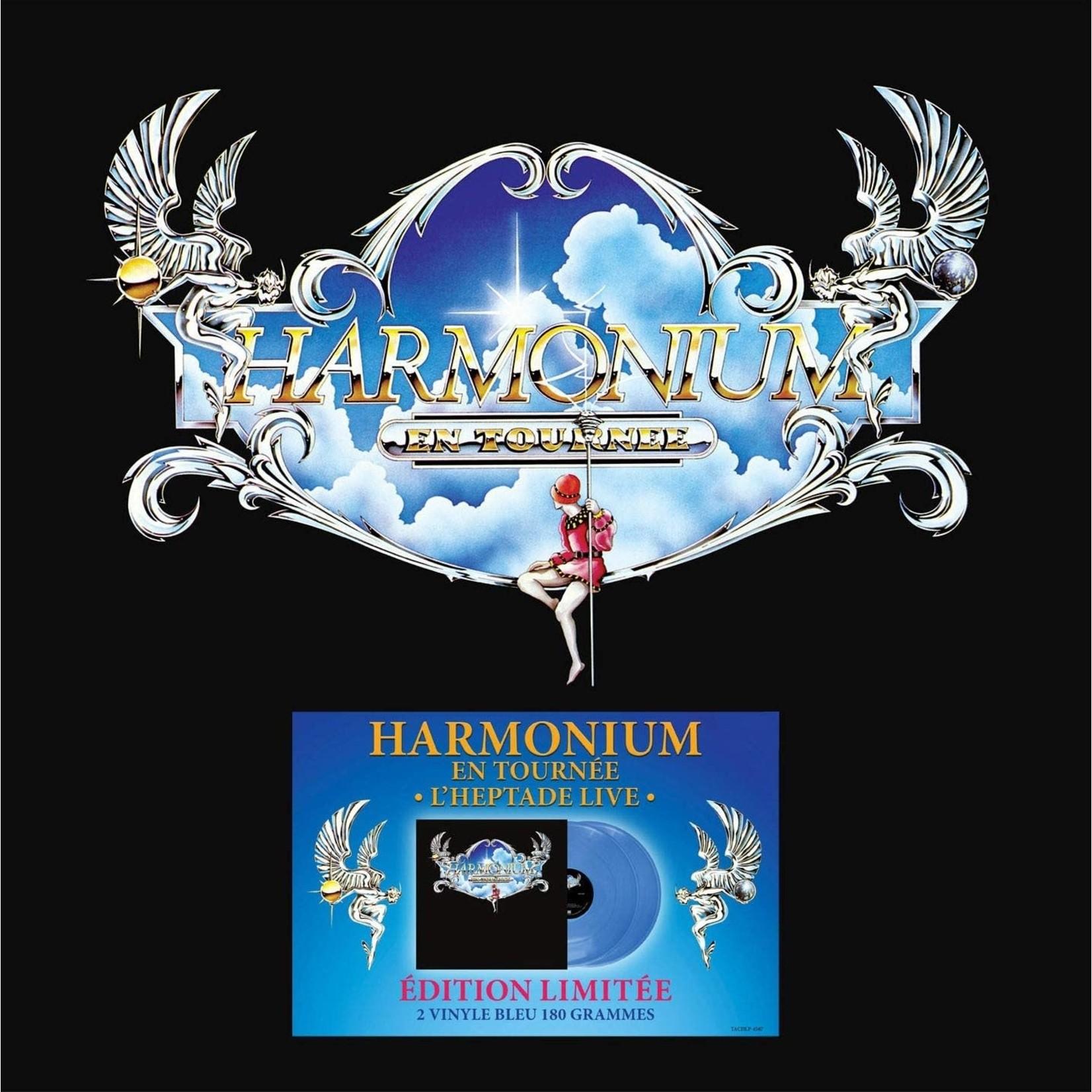 HARMONIUM EN TOURNEE (L'HEPTADE LIVE) 2 VINYLES BLEU, 180 GRAMMES