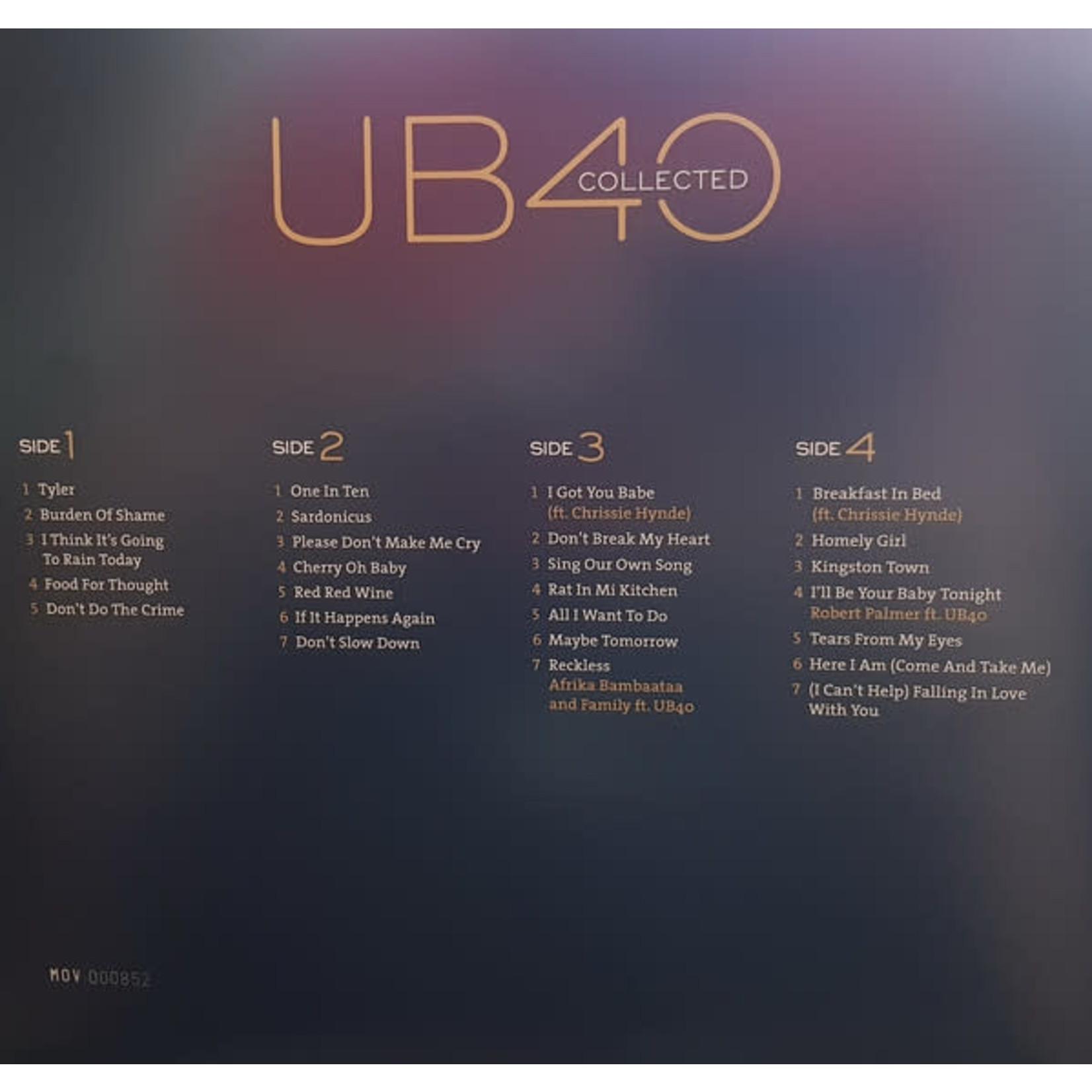 UB40 COLLECTED TRANSPARENT VINYL 2LP LTD. EDITION