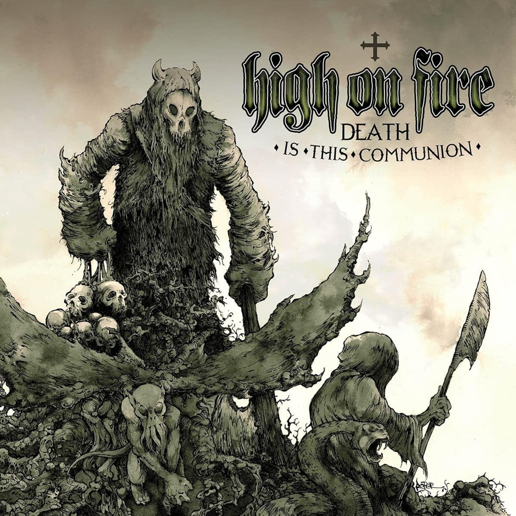 HIGH ON FIRE DEATH IS THIS COMMUNION  2LP SWAMP GREEN VINYL