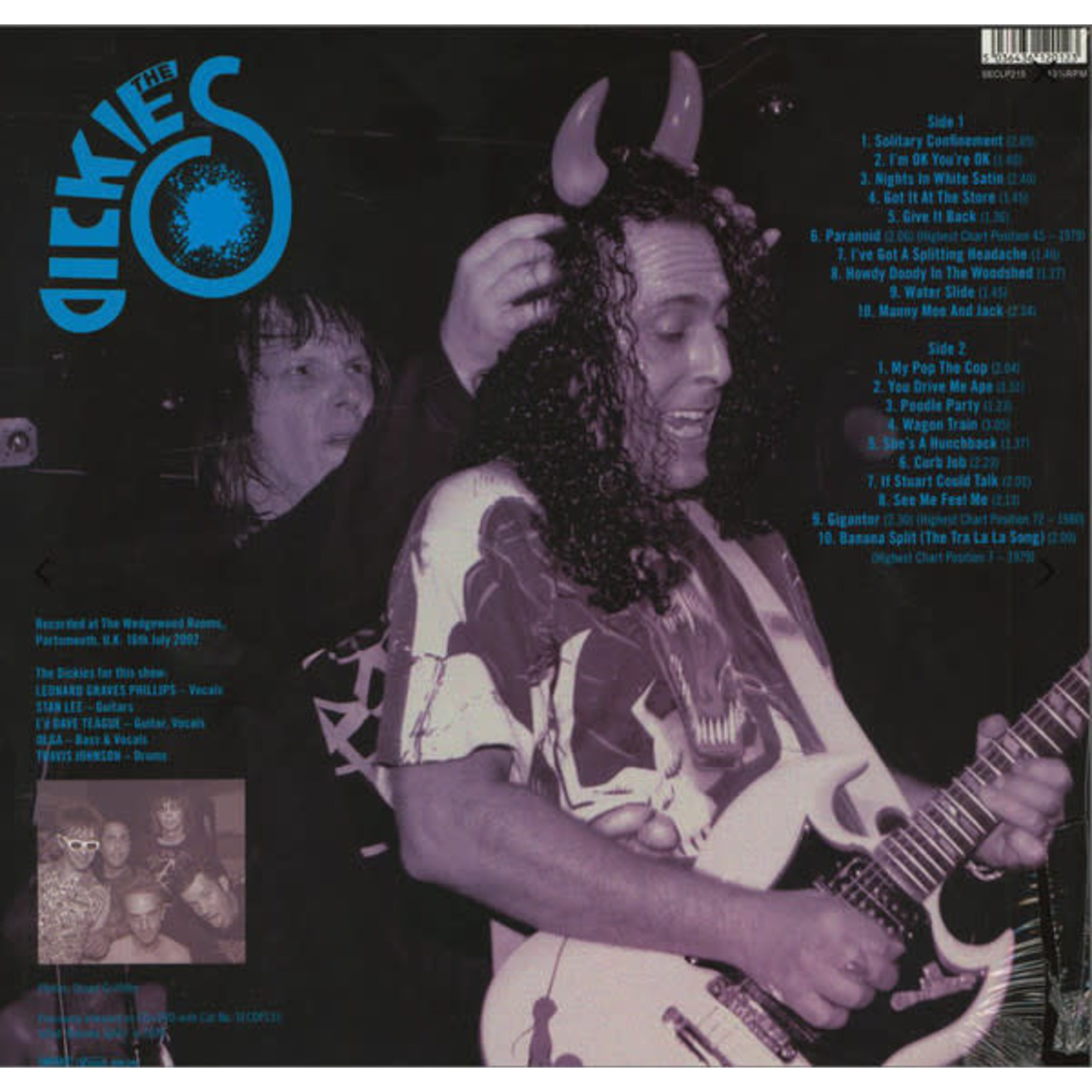 THE DICKIES BEST OF LIVE  LP