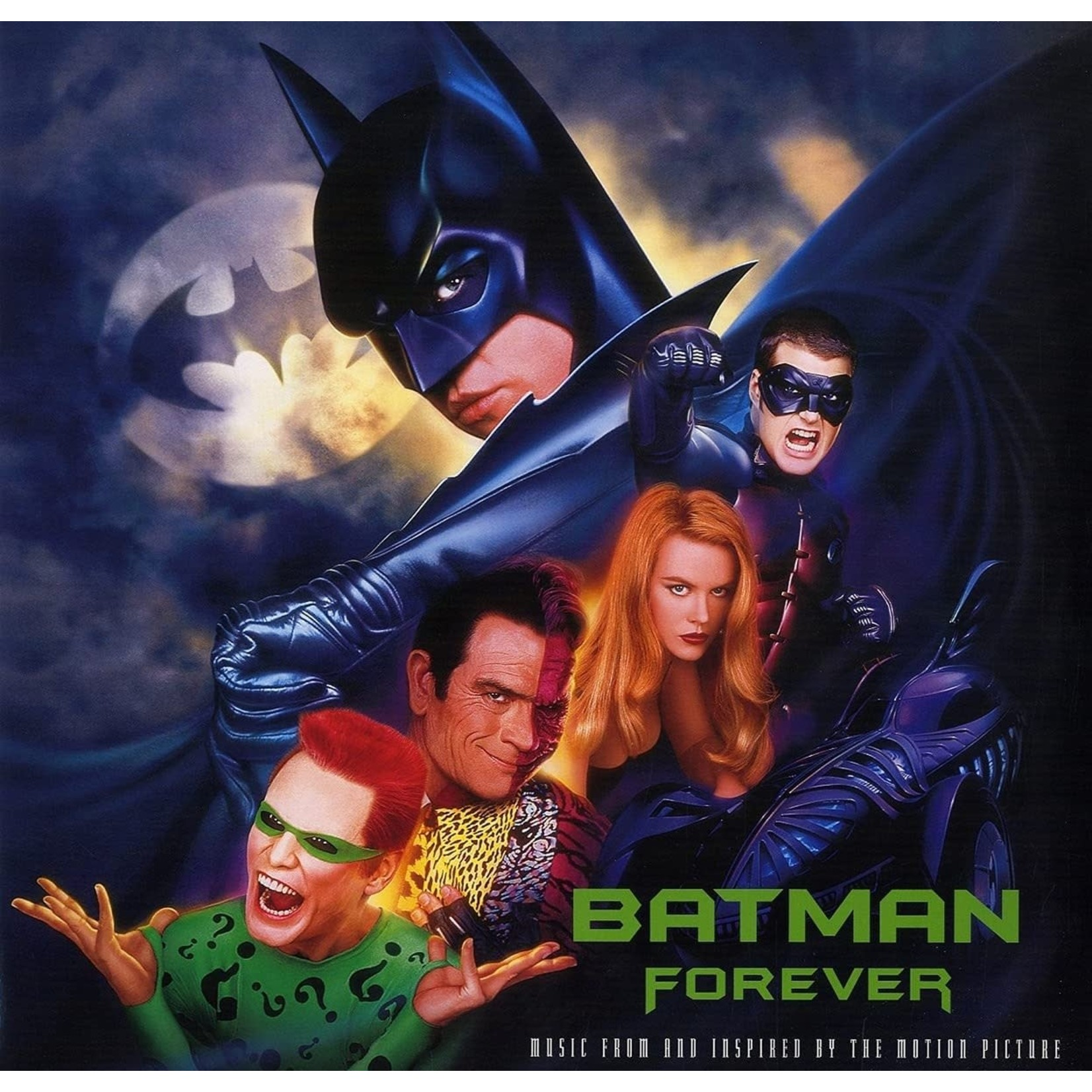 VARIOUS ARTISTS BATMAN FOREVER – MUSIC FROM THE MOTION PICTURE BLUE/SILVER 2LP