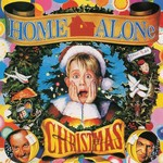 """VARIOUS ARTISTS HOME ALONE CHRISTMAS  CLEAR WITH RED & GREEN """"CHRISTMAS PARTY"""" SWIRL VINYL EDITION"""