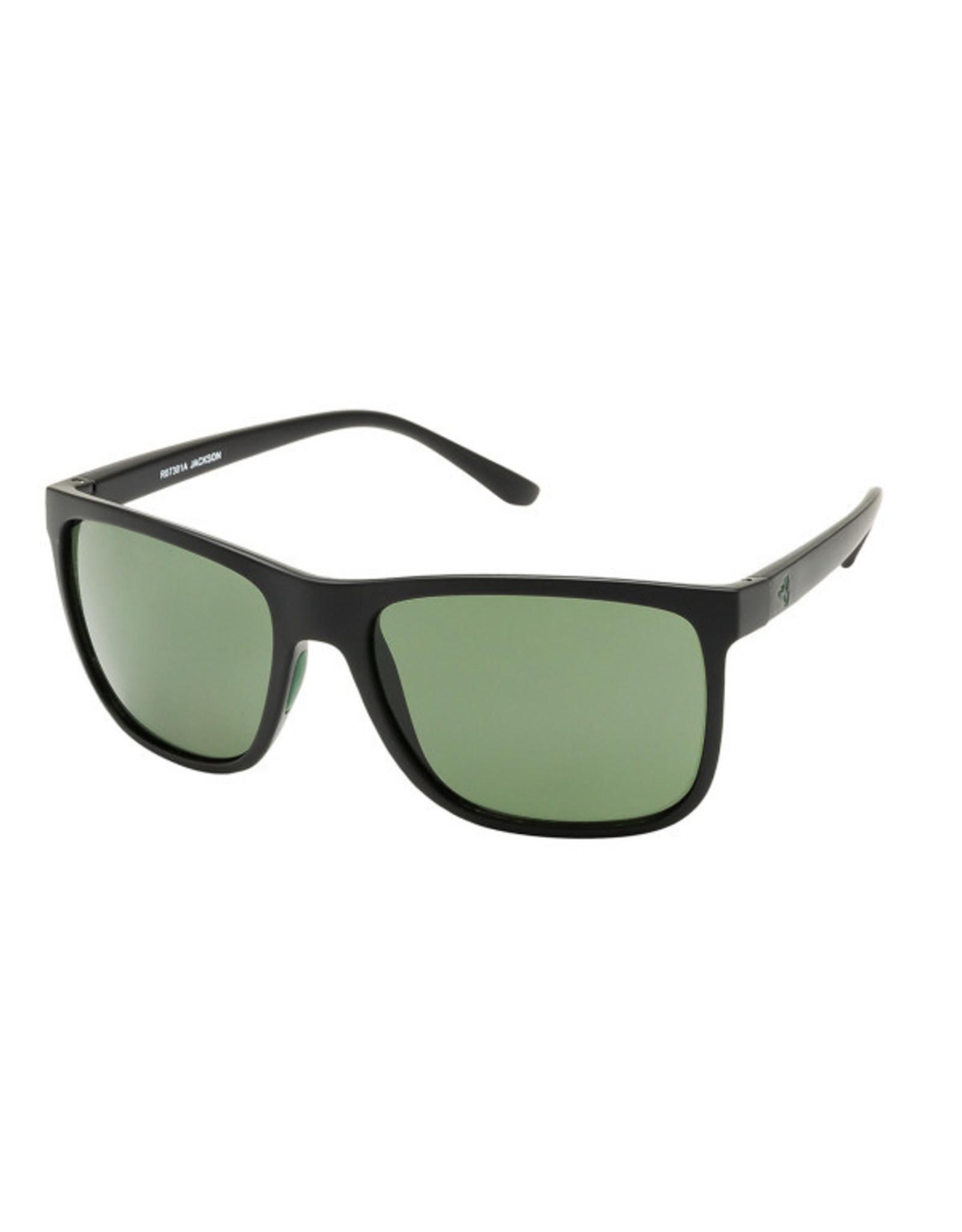 Ryders Eyewear - Jackson Poly Black-Green/Green Lens