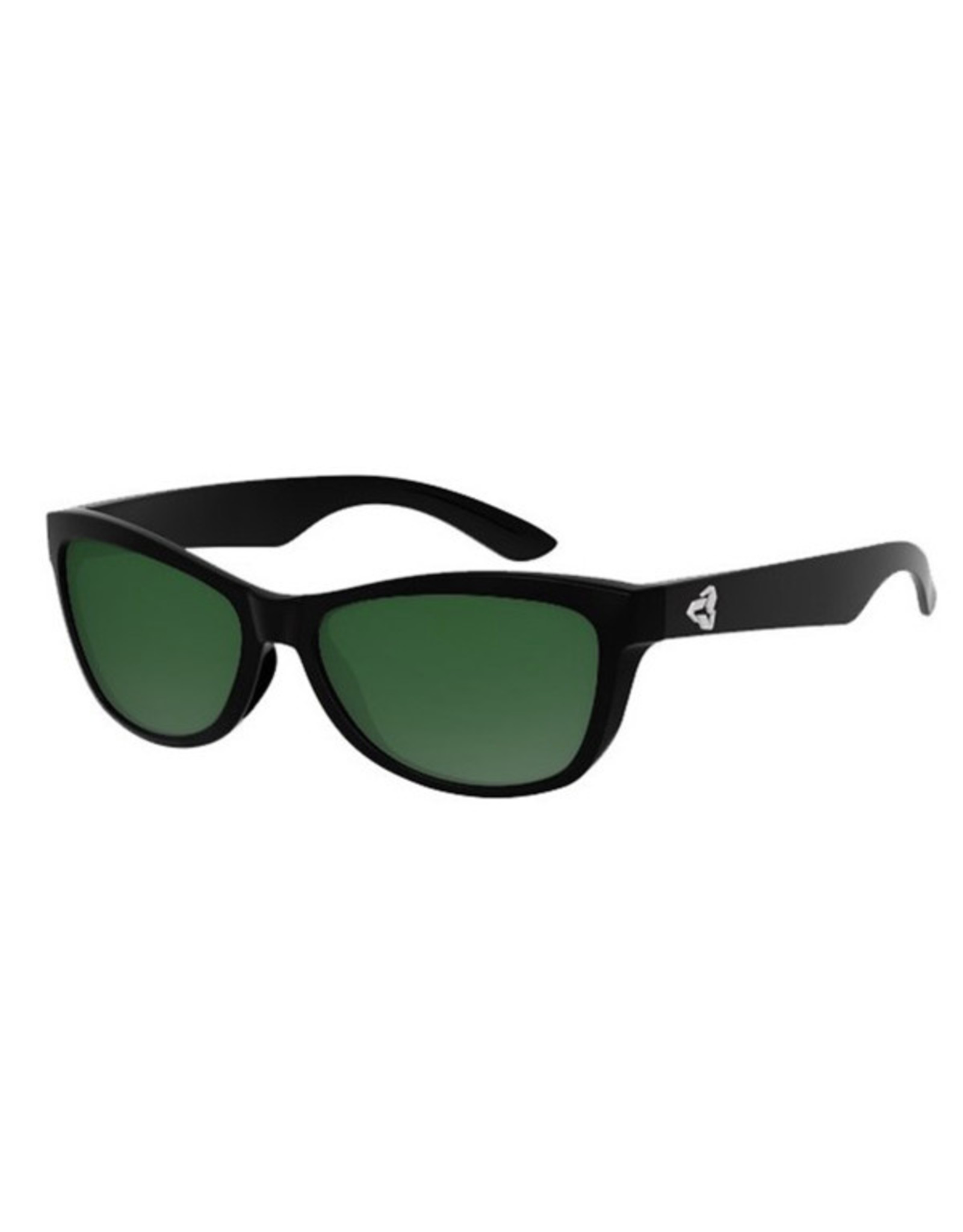 Ryders Eyewear - Gatto Poly Matte Black-Gloss Black-Xtal/Green Gradient Silver FM