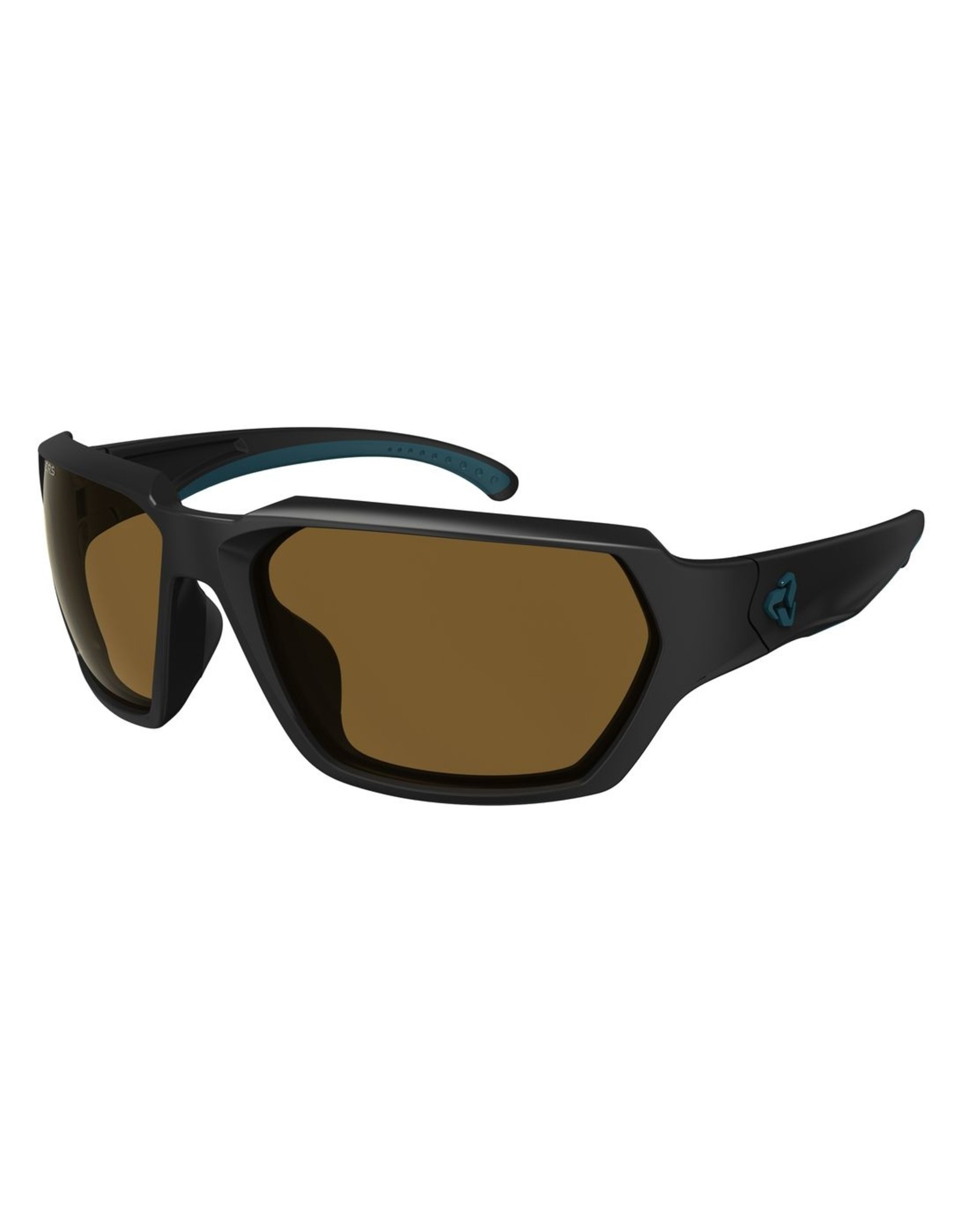 Ryders Eyewear - Face Poly Black Matte - Blue/Brown Lens
