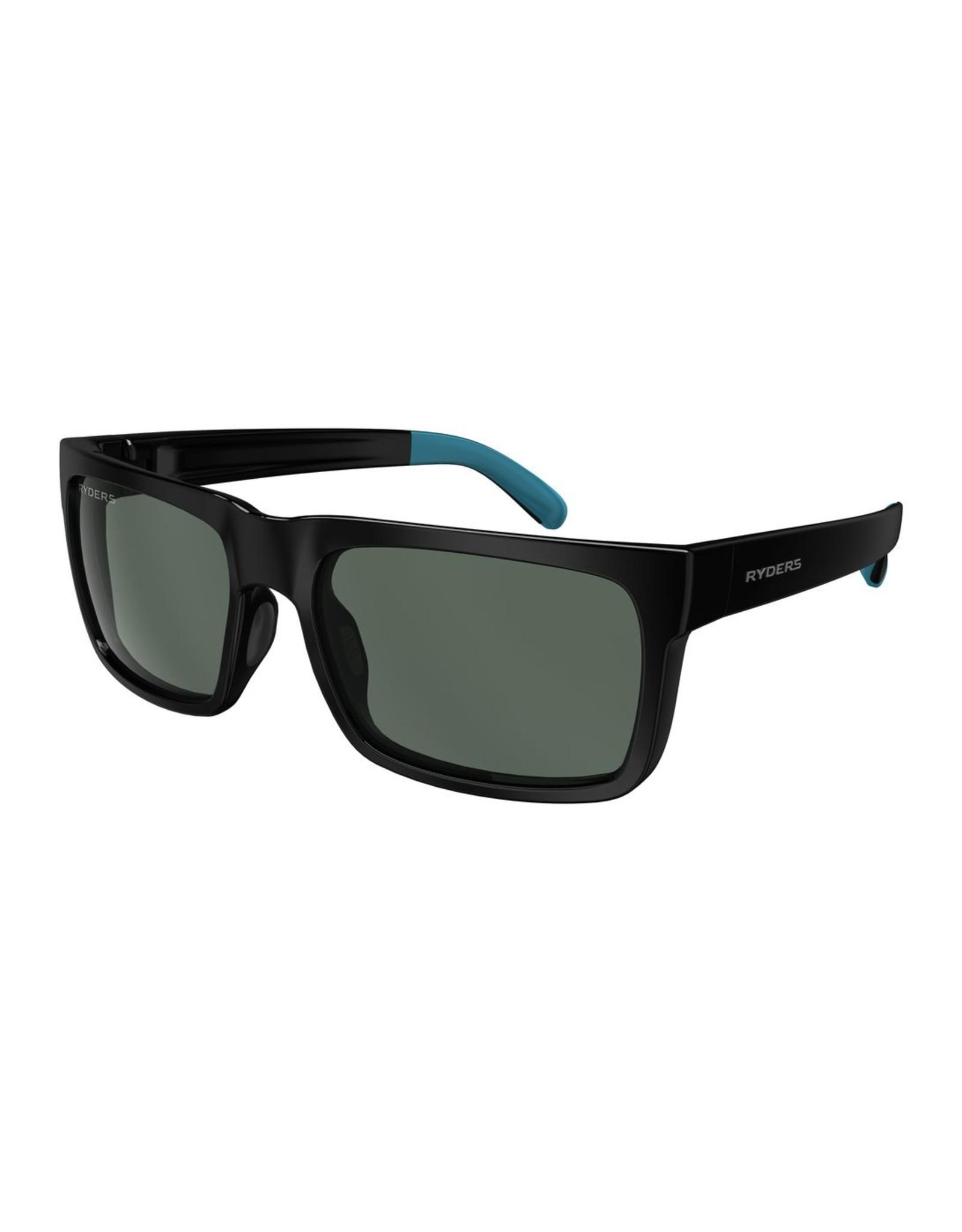 Ryders Eyewear - Pemby Polar Black - Blue/Green Lens