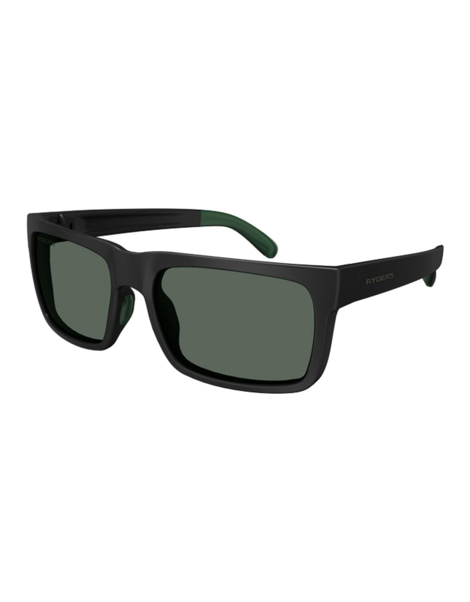 Ryders Eyewear - Pemby CB Matte Black-Green/Green Lens AR