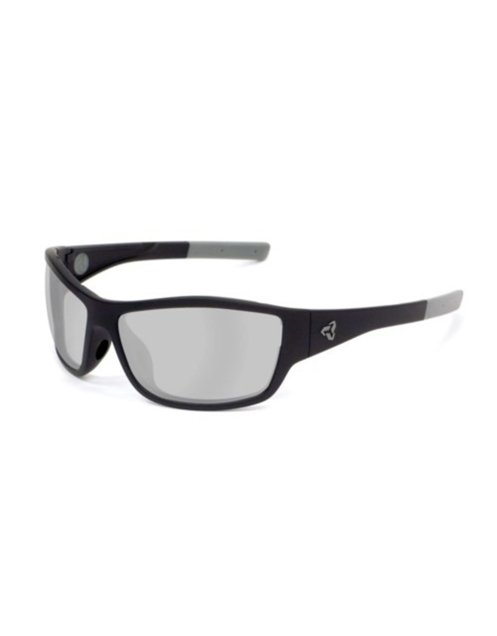 Ryders Eyewear - Bowery Poly Matte Black-Matte Gun/Grey Lens Silver FM Anti Fog