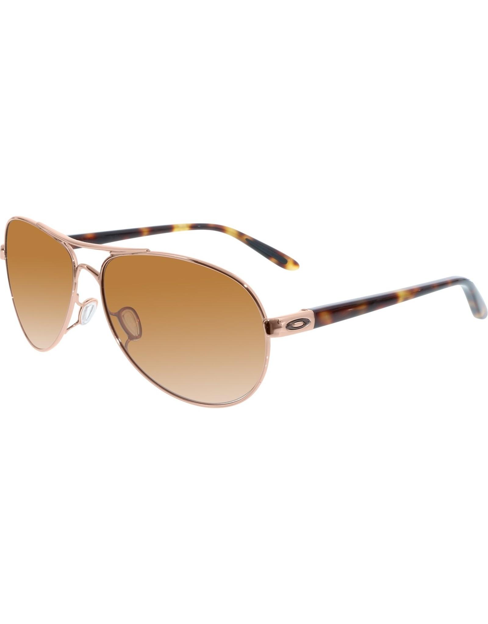 Oakley womens sunglasses FEEDBACK rose gold w/ vr50 brown gradient