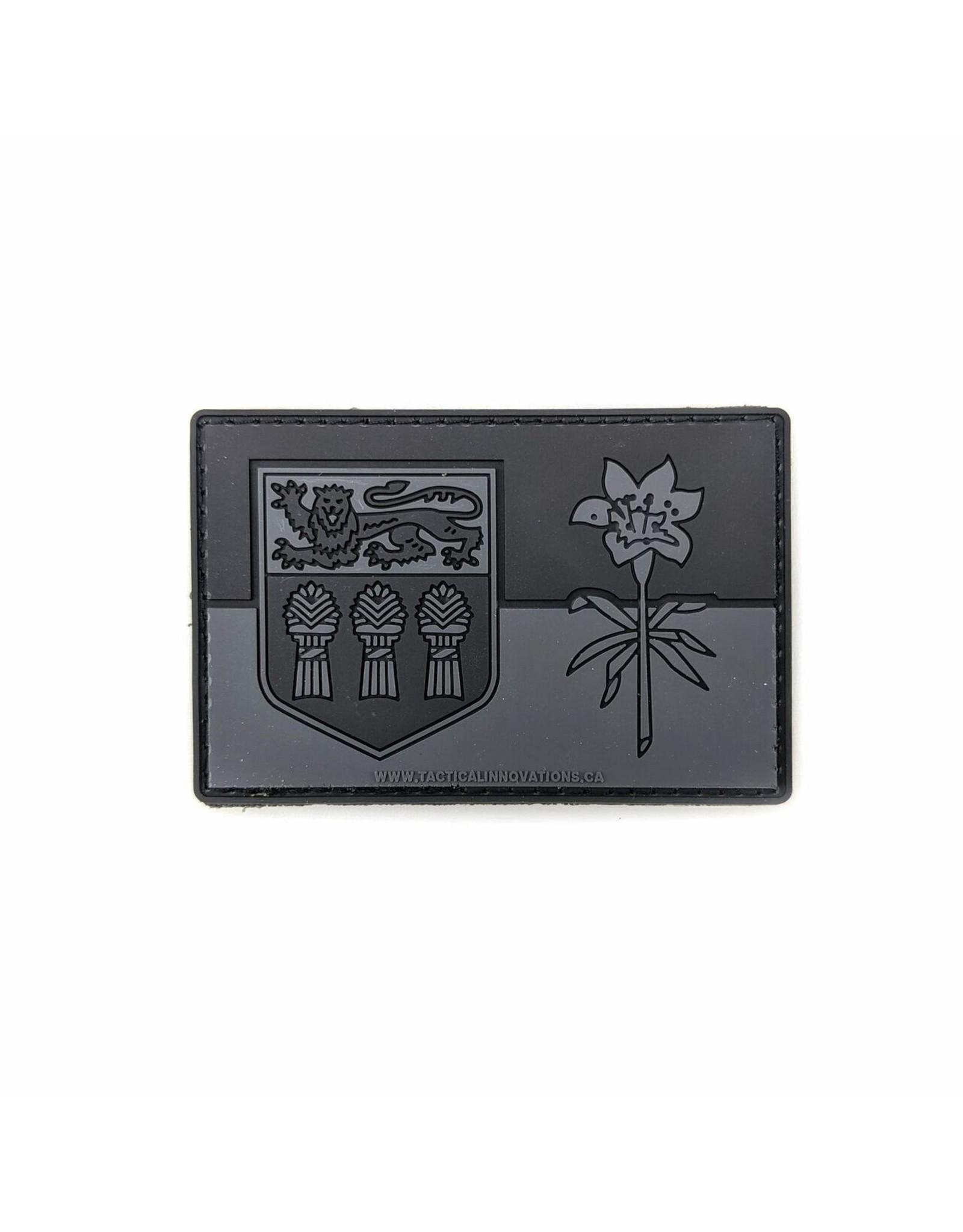 TIC Patch - SASK FLAG 2X3 GREY