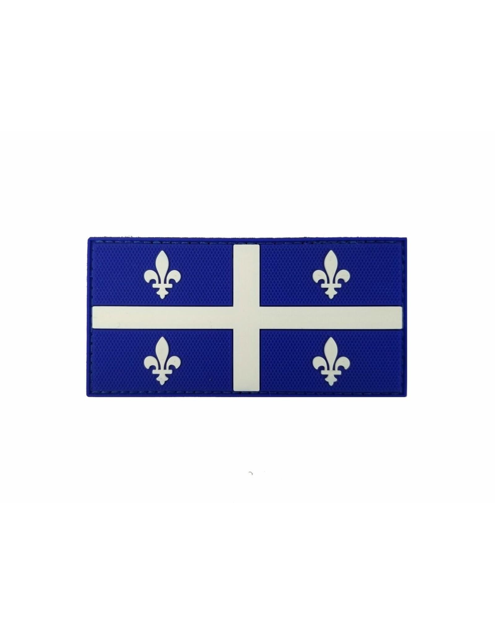 TIC Patch - QUEBEC FLAG 2X4 COLOUR