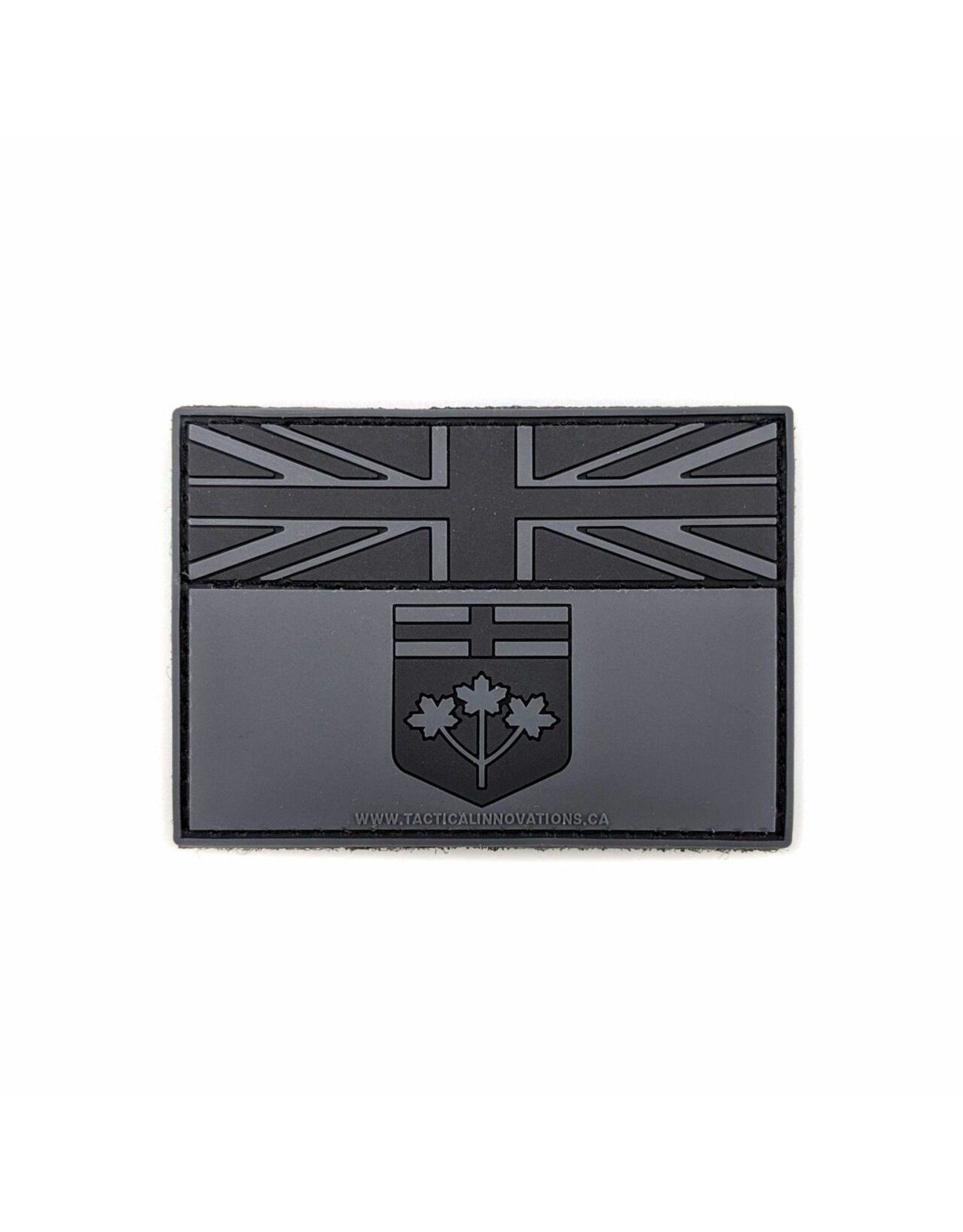 TIC Patch - ONTARIO FLAG 2X3 GREY