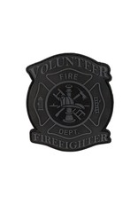 TIC Patch - VOLUNTEER FIRE FIGHTER- GREY