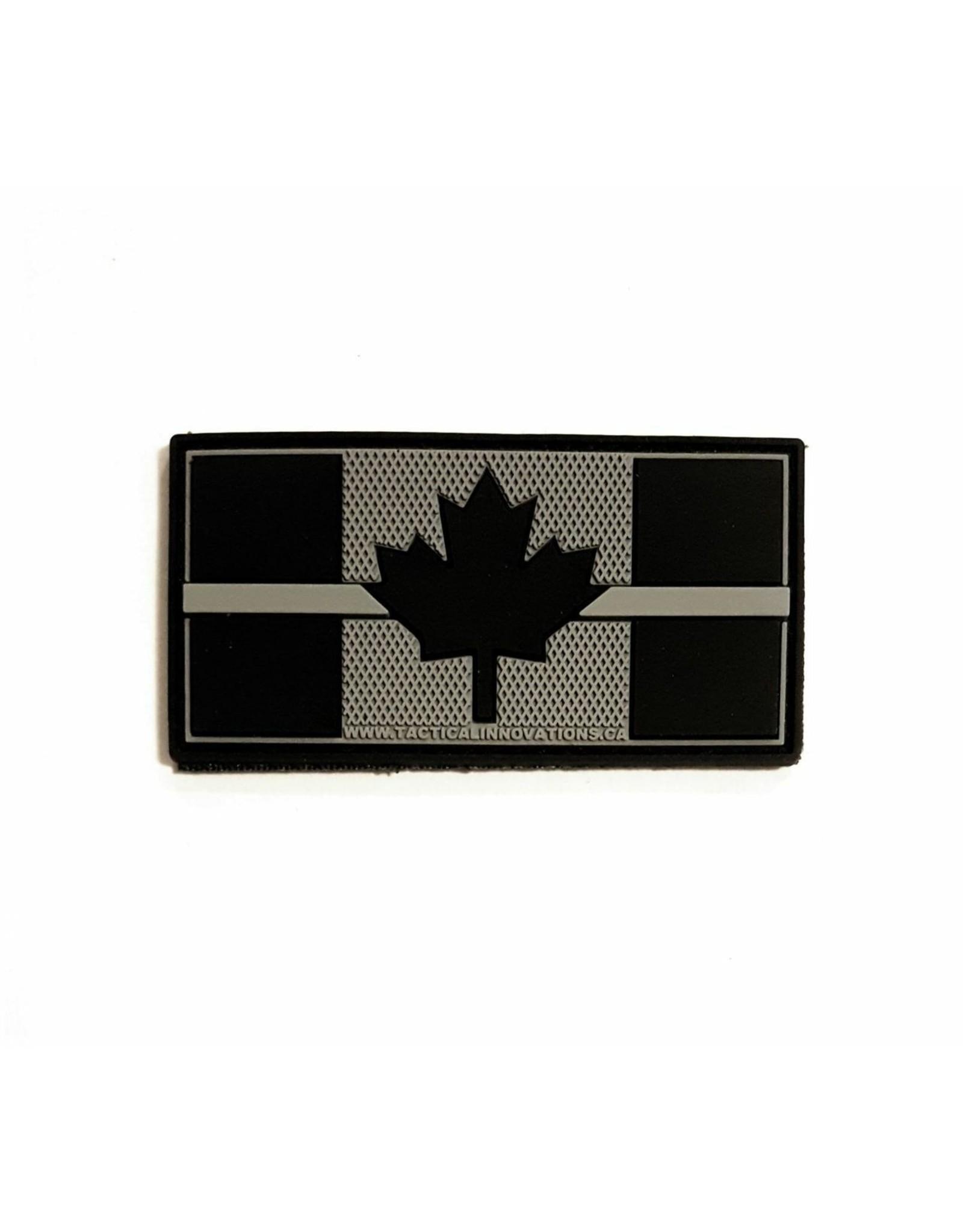 TIC Patch - THIN GREY LINE FLAG 1X2