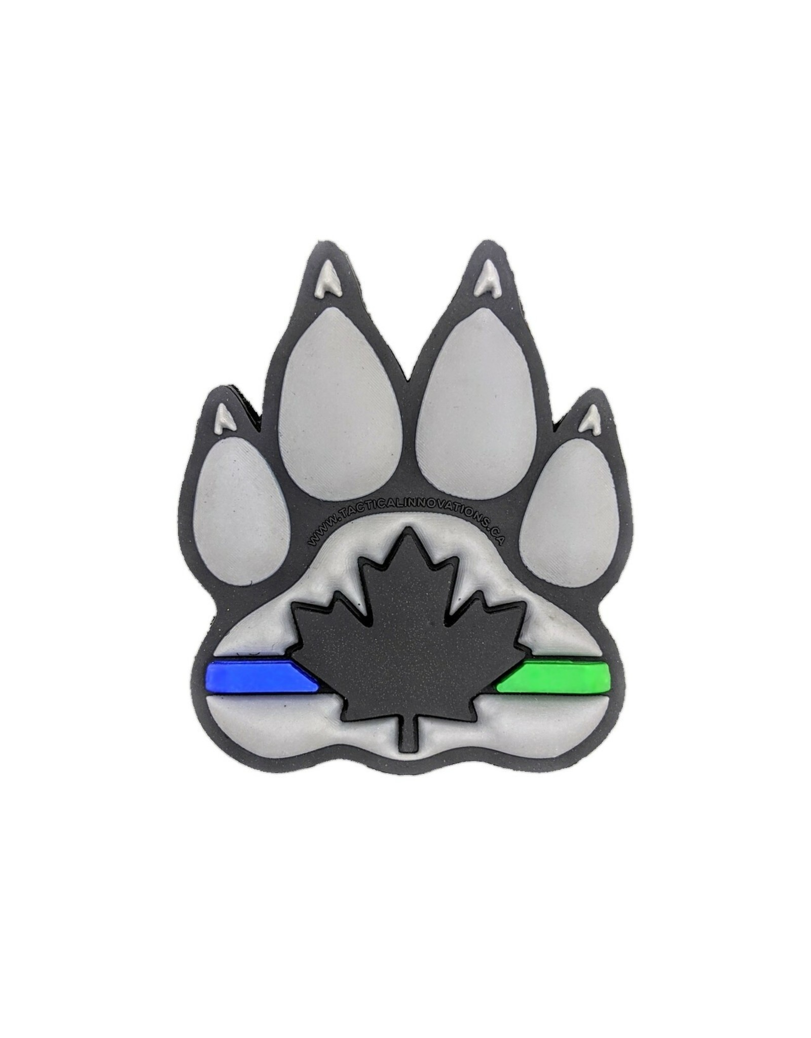 TIC Patch - K9 (S) THIN BLUE LINE/GREEN LINE GREY
