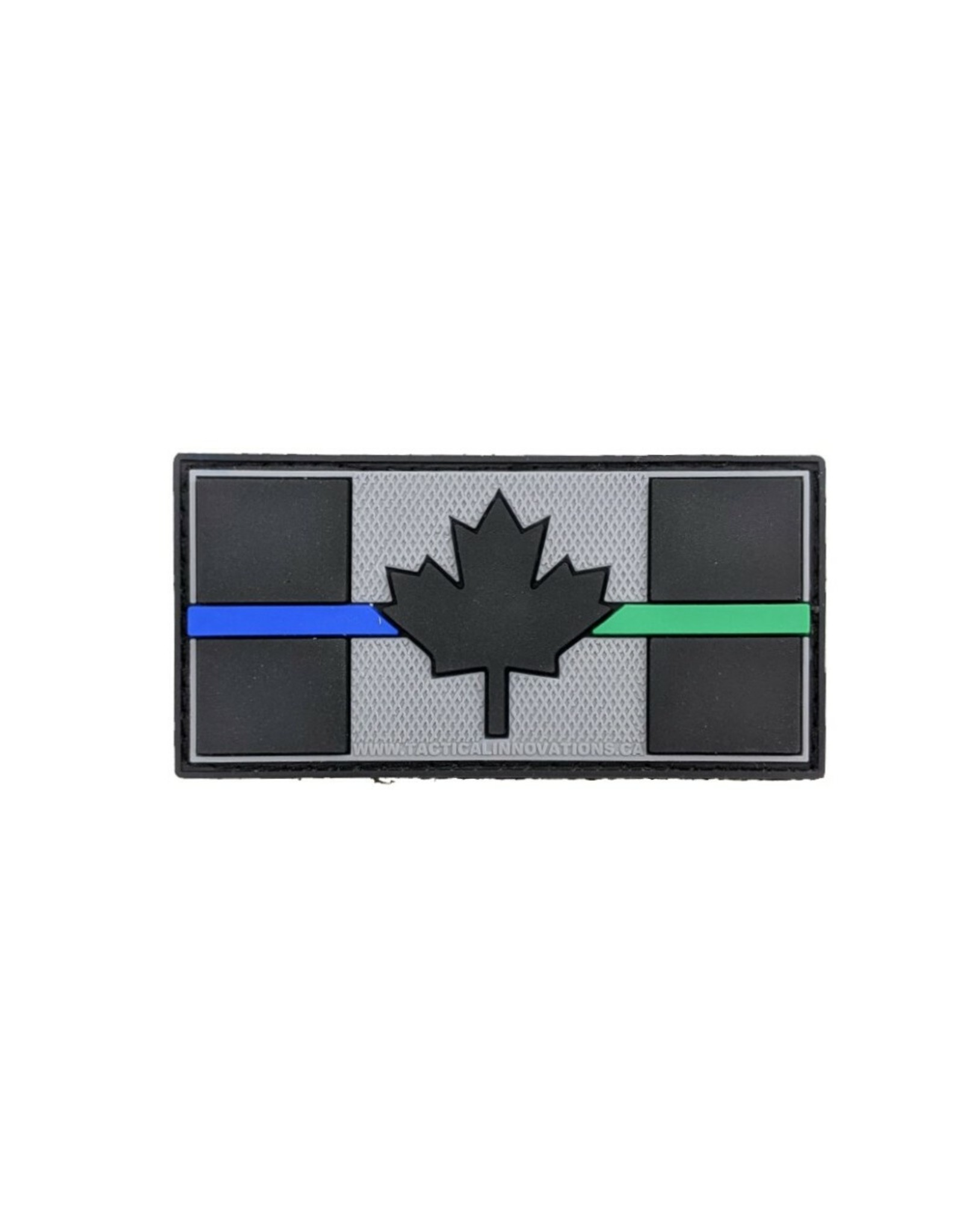 TIC Patch - THIN BLUE/GREEN LINE FLAG 1.5X3