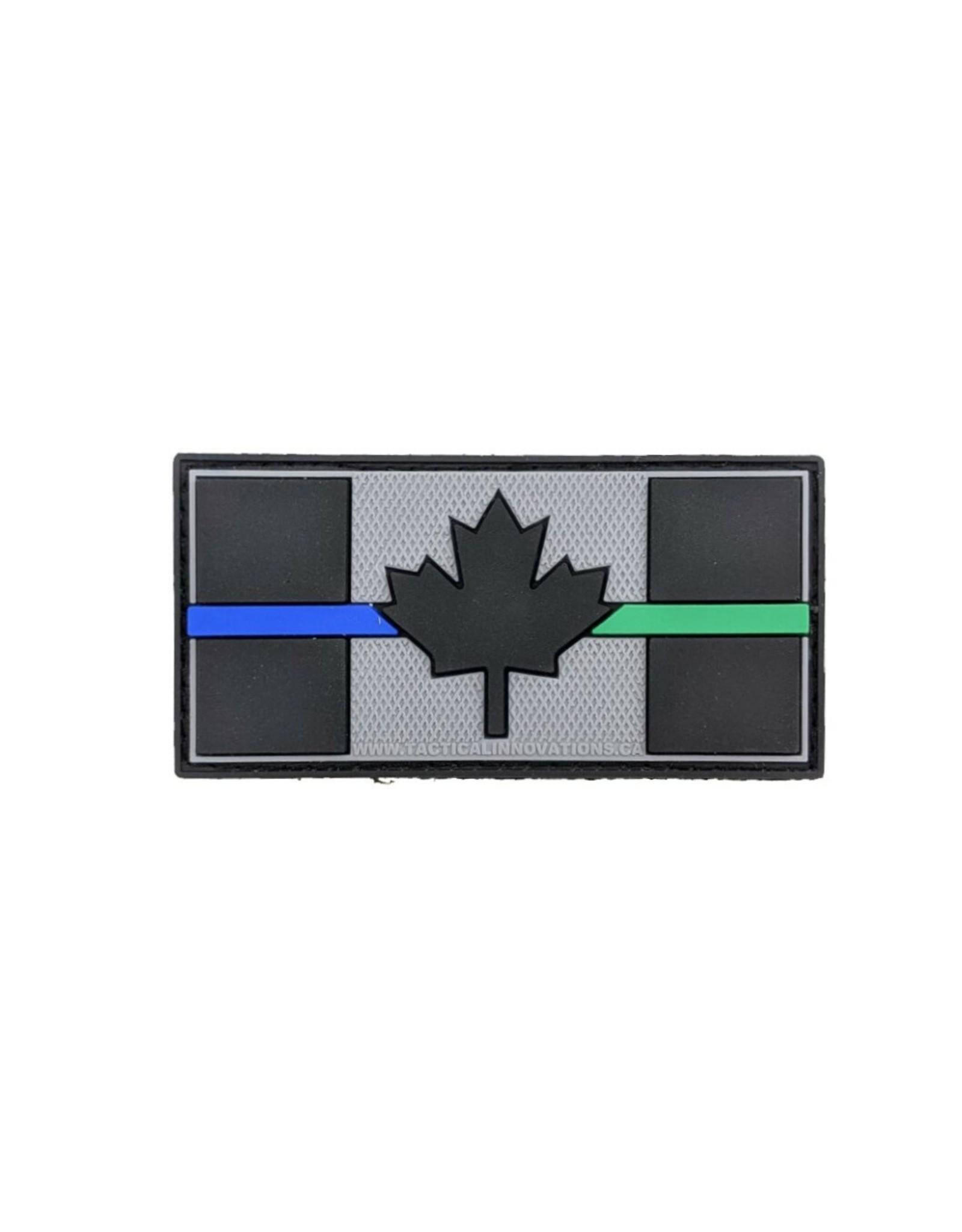 TIC Patch - THIN BLUE/GREEN LINE FLAG 1X2