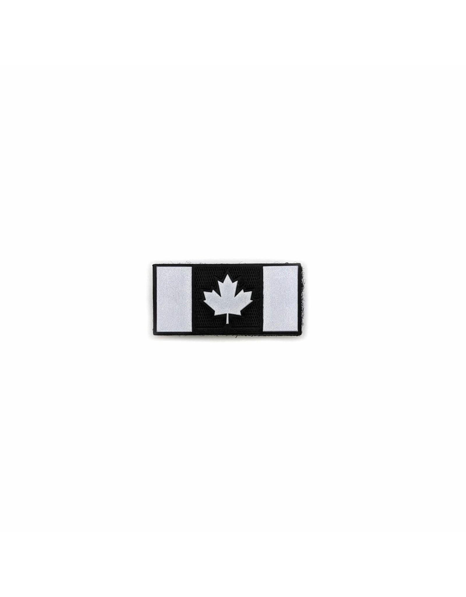 TIC Patch - Hi Vis Reflective Patch CANADA FLAG BLACK 1X2