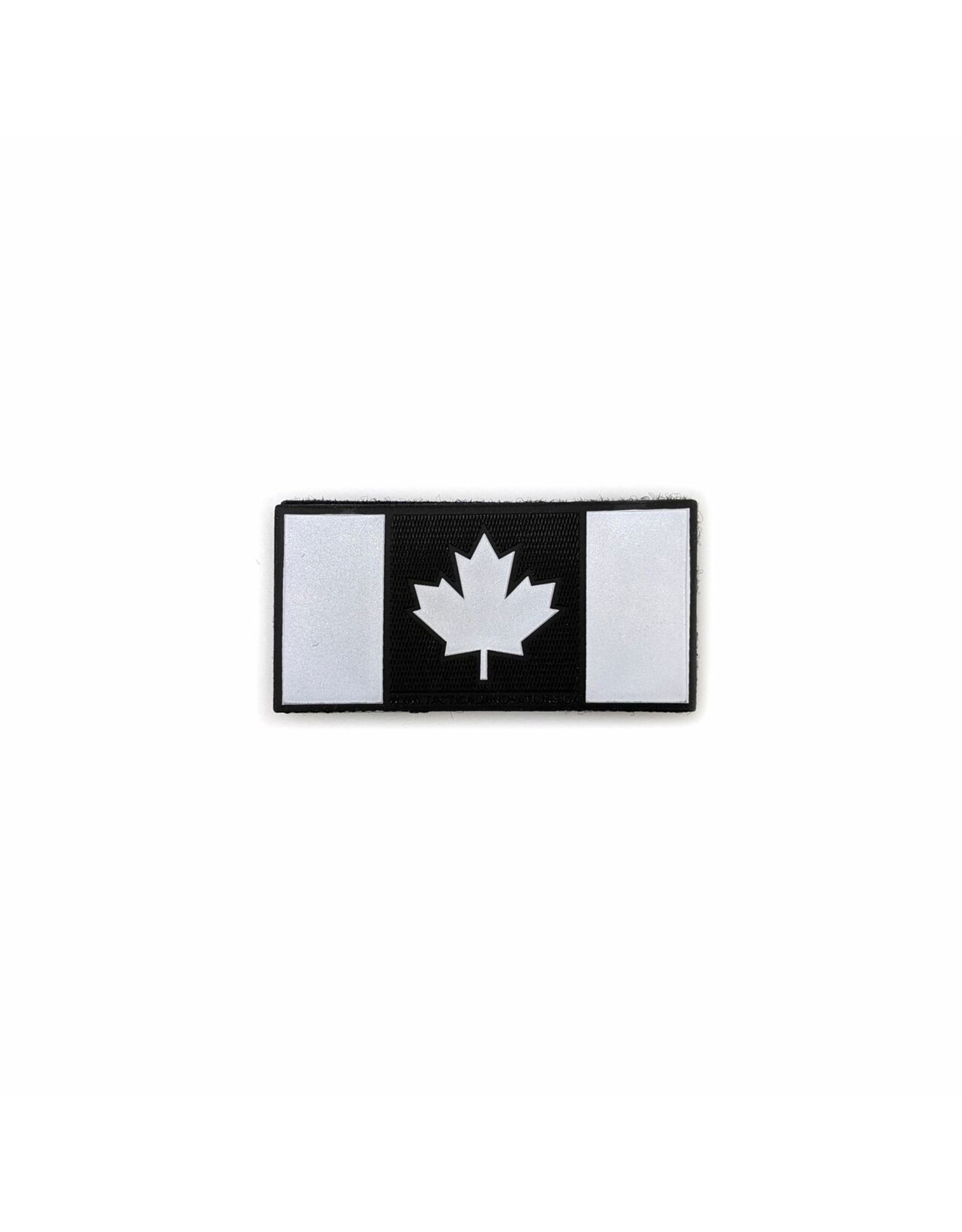 TIC Patch - Hi Vis Reflective Patch CANADA FLAG BLACK 1.5X3