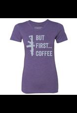 BRCC Women's But First Coffee Shirt Color: Purple Rush Size: XXL