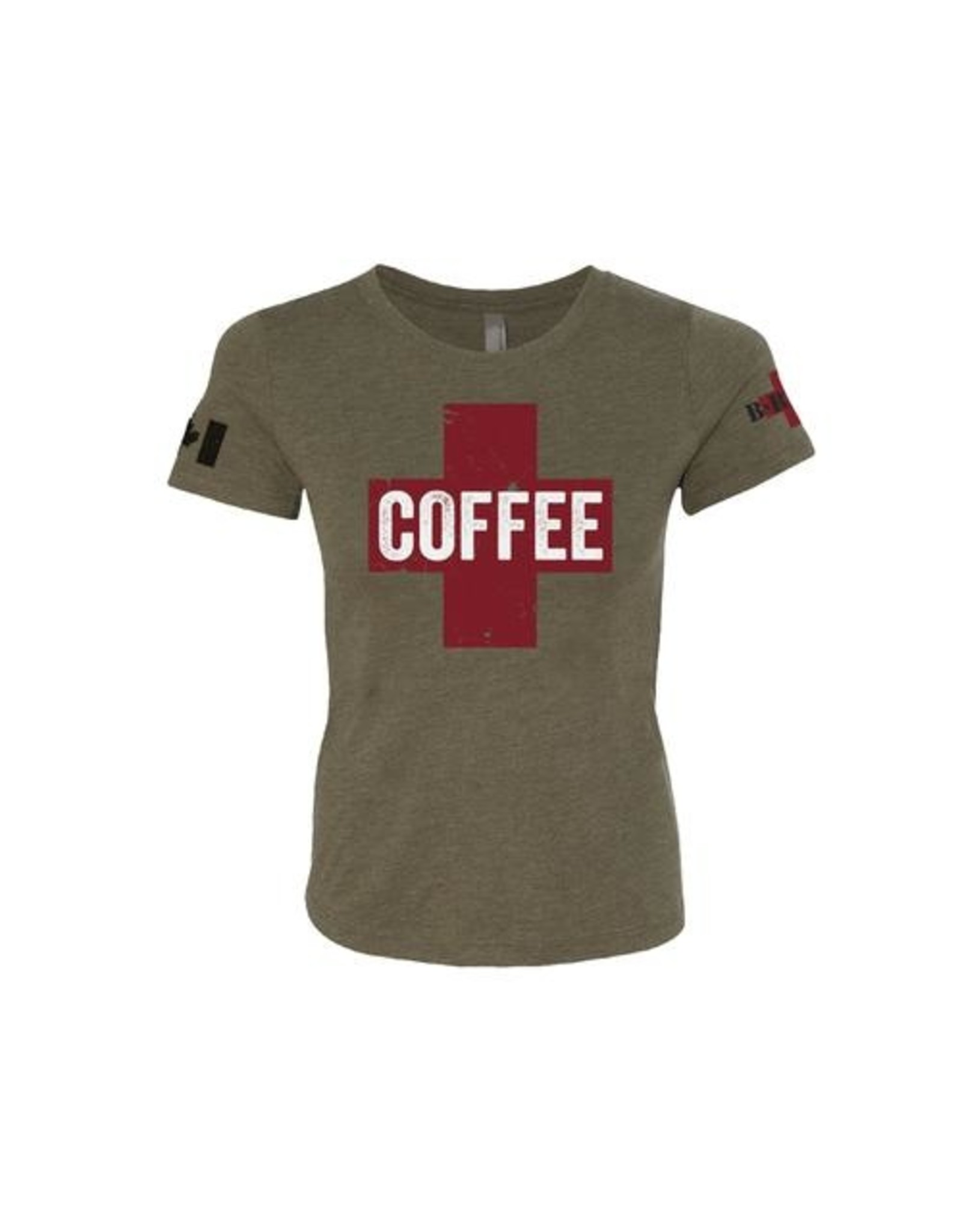 BRCC Women's Shirt Coffee Saves Lives Color: Green ..Size: Extra Large