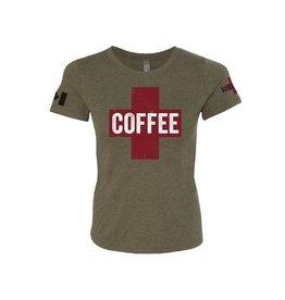 Black Rifle Women's Coffee Saves Lives Green XL