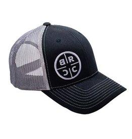 BRCC - Circle Logo Trucker Hat - Black/Grey Mesh