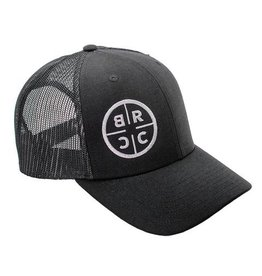 BRCC - Circle Logo Trucker Hat - Black/Black Mesh