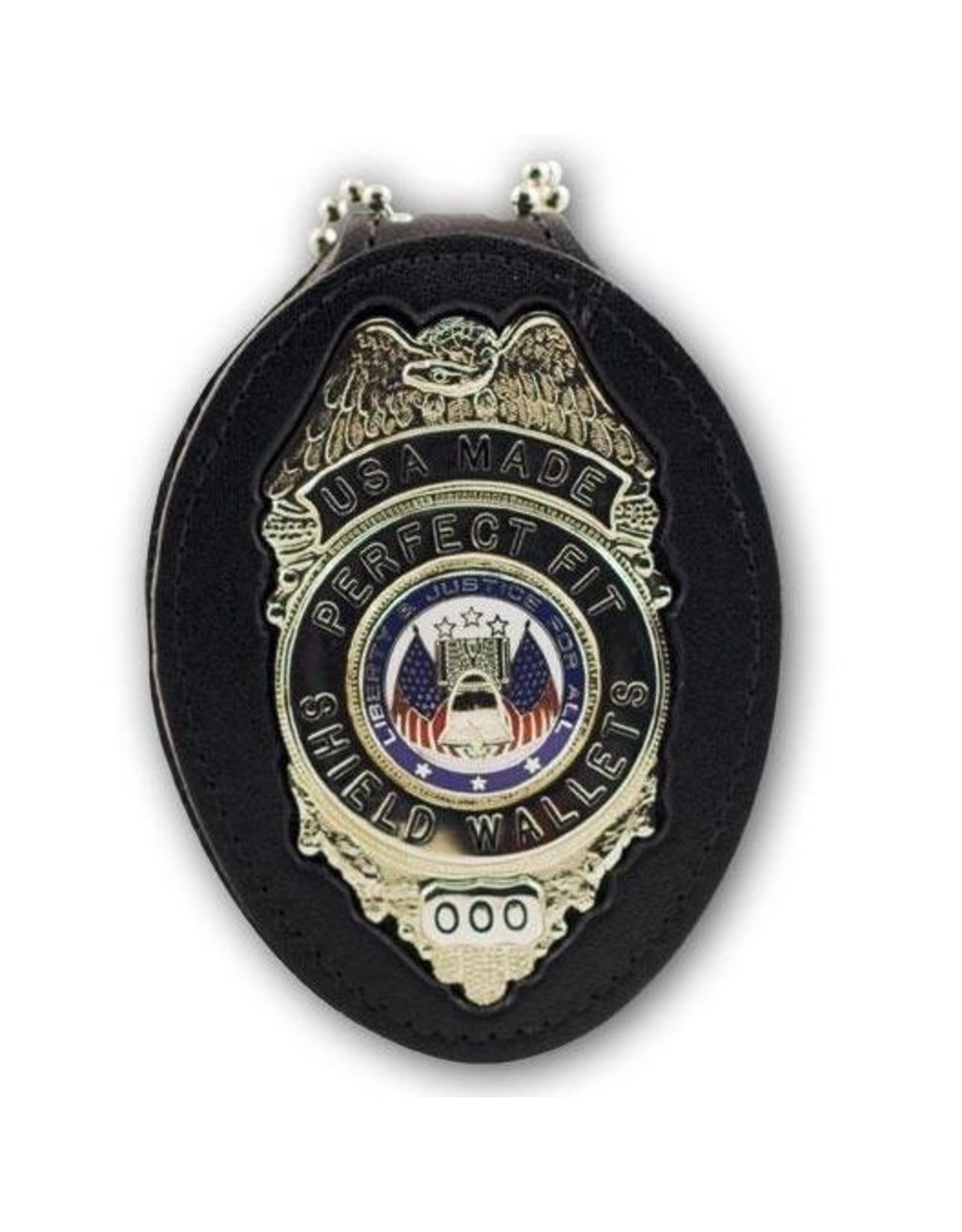 Perfect  Fit OPP- belt badge holder with clip and chain