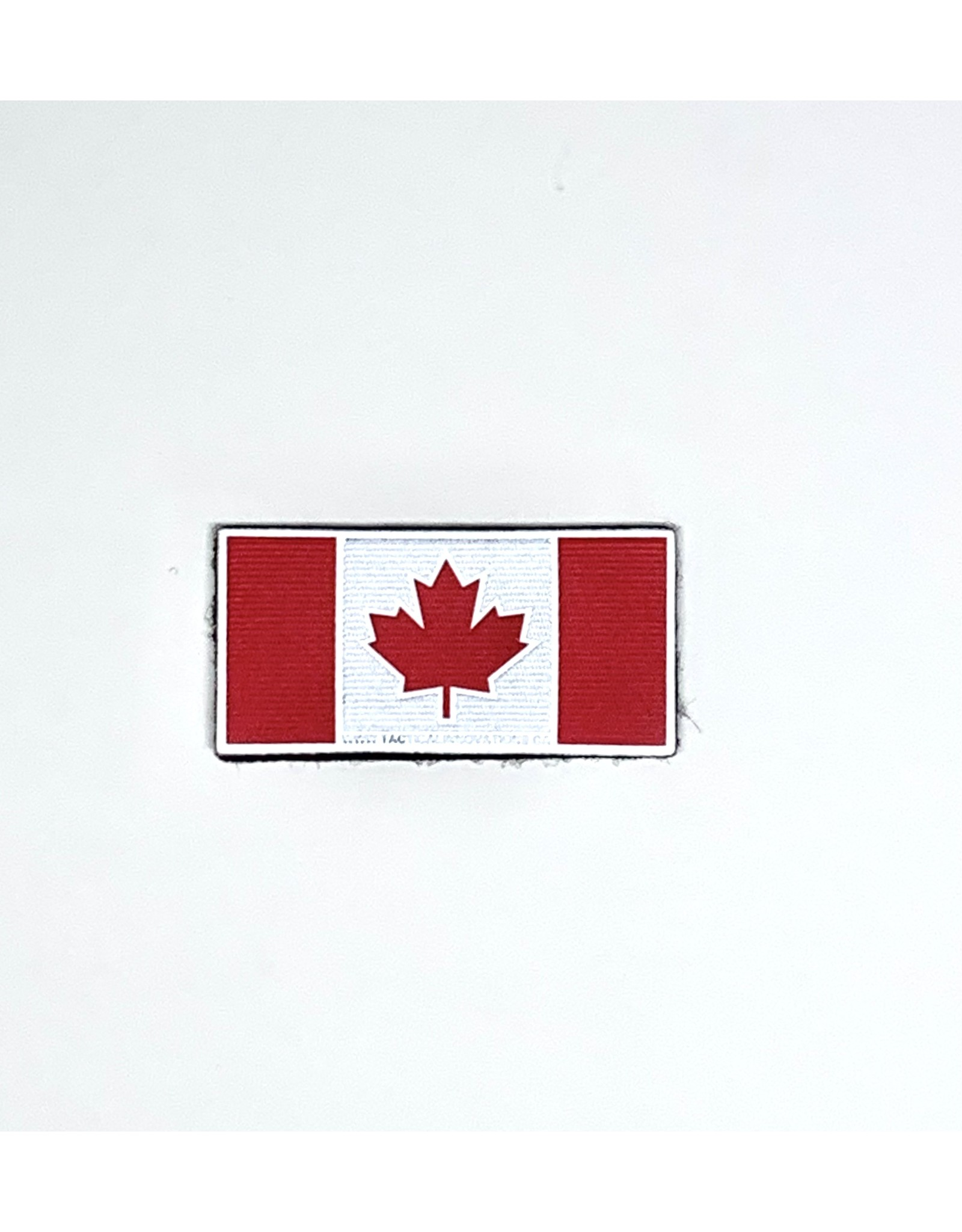 TIC Patch - Hi Vis Reflective Patch CANADA FLAG RED 2X4