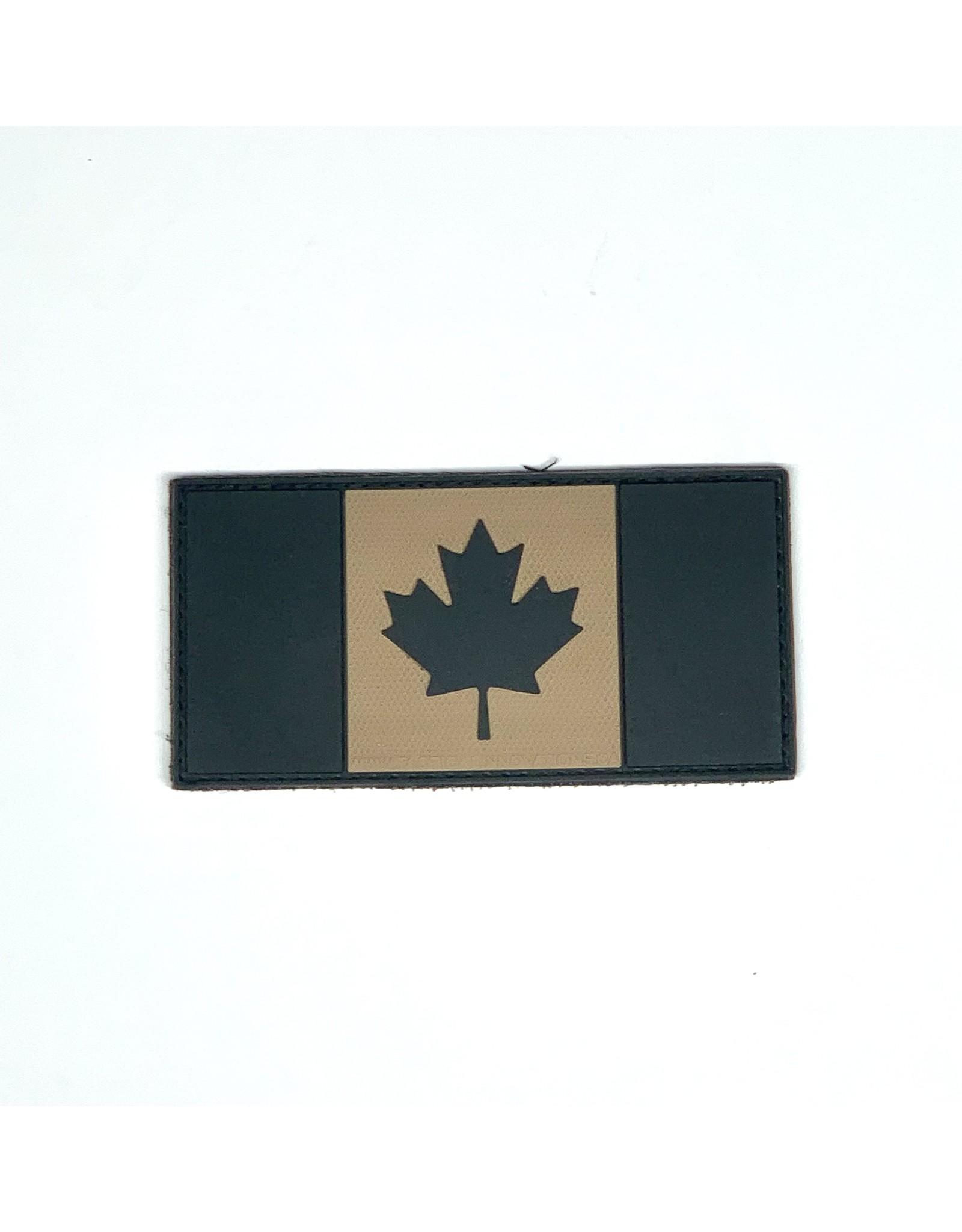 TIC Patch - CANADA FLAG 2X4 TAN