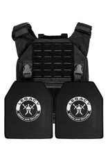 QRF Plate Carrier with IIIA Panels- Shooters Cut with 2x 10x12  Panel