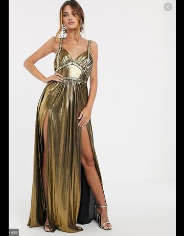 BRONX AND BANCO STAR DRESSES GOLD MT:M