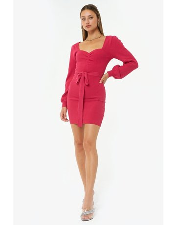 4SI3NNA OLIVIA KNIT W/ SWEETHEART NECKLINE DRESSES