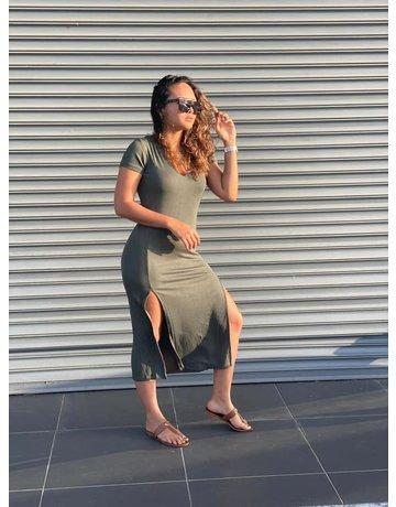 LNA EASY RIB TEE DRESSES