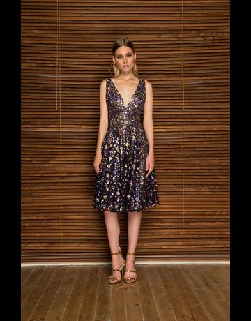 BRONX AND BANCO BARBARA FLARED DRESSES MULTI COLOR MT:L