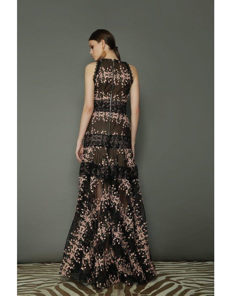 BRONX AND BANCO MEGAN BLUSH MAXI DRESSES BLACK/BLUSH MT:M