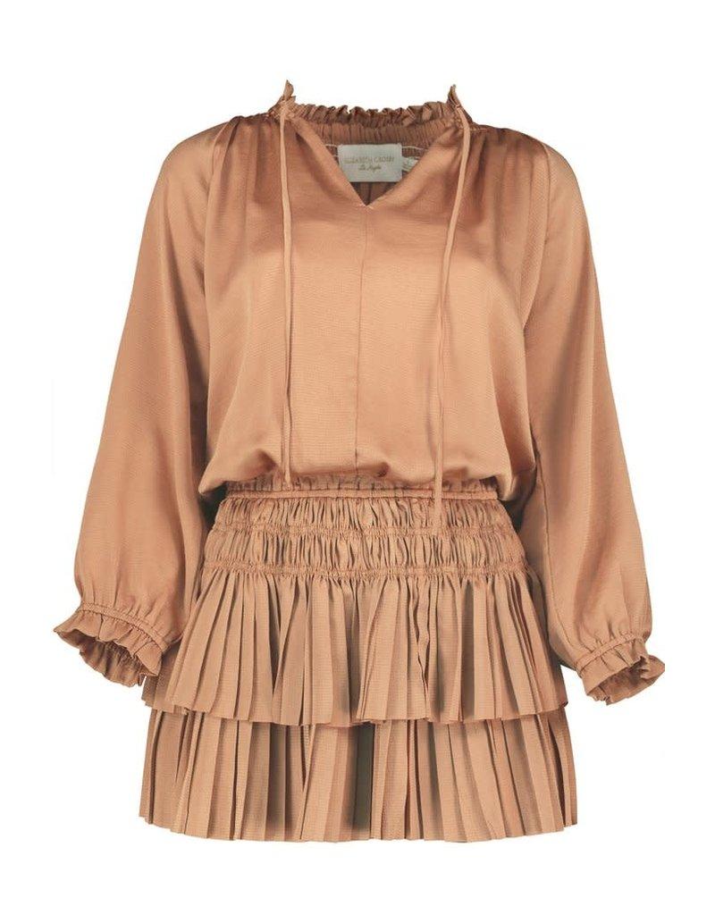 ELIZABETH CROSBY PALERMO PLEAT MINI DRESSES