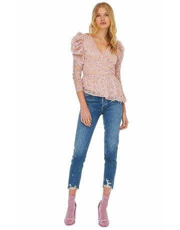 ASTR THE LABEL ICON LACE TOPS ICY PINK MT: M
