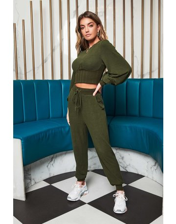 LAVISH ALICE HIGH WAISTED RELAXED KNITTED JOGGER PANTS