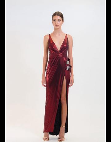 ZHIVAGO DO OR DIE GOWN DRESSES METALLIC RUBY 08 (S)