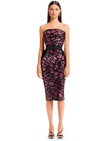ZHIVAGO KNOX DRESSES MAGENTA 12 (L)