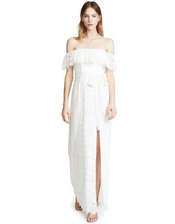 YUMI KIM MARIBELLA MAXI DRESSES WHITE MT: XS