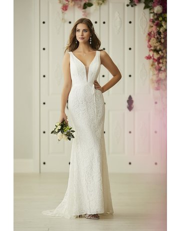 CHRISTINA WU 22929 FIT TO FLARE V-NECK SLEEVELESS WEDDING GOWNS