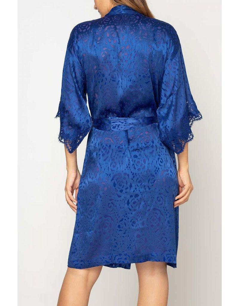 LISE CHARMEL ALC2088 ROBES LINGERIE FLORAL DRESSING BLUE M